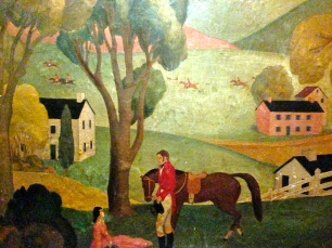 scene from the Mural Room wall